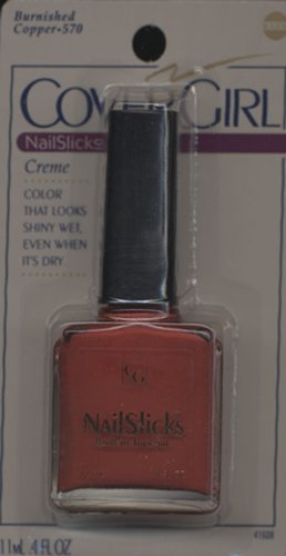 Cover Girl NailSlicks Burnished Copper 4 Fl OZ. Nail Polish (Pack of 2) by Makeup Cosmetic