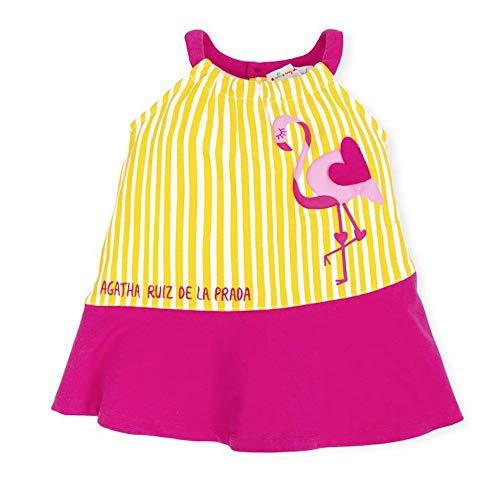 Agatha Ruiz De La Prada Mädchen Kleid 7202S19 gelb (4 Jahre)