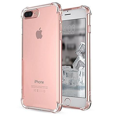 Coque iPhone 7 Plus, [Coussin d'air] [4 Coins Shock-Absorption] Pare-chocs Anti-rayures Soft TPU Etui de Protection pour Apple iPhone 7 Plus 5.5 Pouces 2016-Clair