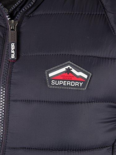 Superdry Herren Outdoor Weste Fuji Double Zip Hooded Vest Blau