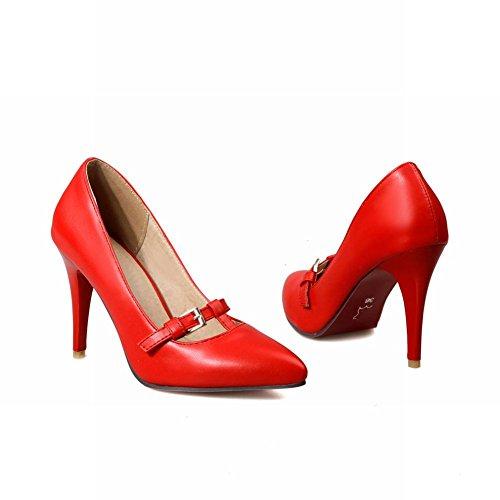 Mee Shoes Damen spitz Geschlossen high heels Pumps Rot