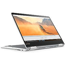 """Lenovo 80V4002DIX Yoga 710-14IKB Convertibile con Display da 14"""", Processore Intel Core i5-7200U da 2.5 GHz, 8 GB DDR4-SDRAM, 256 GB SSD, Scheda Grafica Intel HD Graphics 620, Windows 10 Home, Argento"""