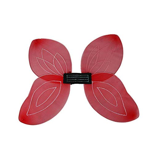 Adult Fairytail Fantasy Fairy Wings Fancy Dress Accessory-Red