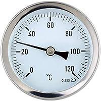 Vkospy Agua a Prueba de 0-120 ° C de Aluminio Caliente del Tubo de Agua del termómetro de Tubo de Agua Caliente de calefacción 63mm Dial de Temperatura Gauge