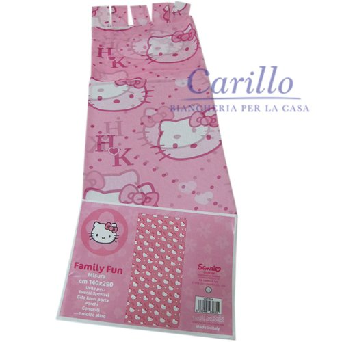Tenda cameretta hello kitty tende pannello con passanti 140x275 cm rosa f960