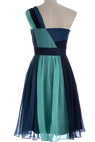 MACloth 2016 Women A Line Chiffon Short Cocktail Party Dress Formal Evening Gown Rot