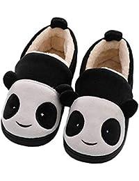 Ruiying Chausson Enfant Peluche Pantoufles Hiver Fille Garçon Chaussures  Maison Bébé Chaud Coton Antidérapant Chaussures Femme 4774db180c58