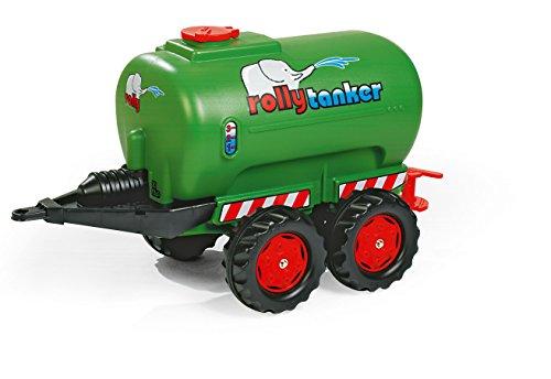 122653 Anhänger Tanker rollyTanker befüllbar | großer, stabiler Tankwagen / Fassanhänger mit 2 Achsen, Auslaufhahn | für Kinder ab 3 Jahren | Farbe grün