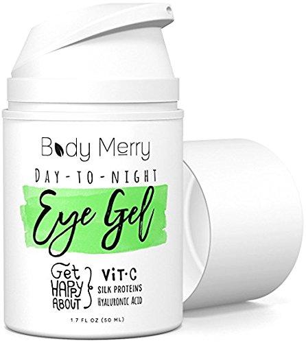 Body Merry Gel Des Yeux Day-To-Night - Gel De Vitamine C Pour Les Cercles Noirs Et Puffiness - Meilleur Hydratant Anti-Vieillissement Avec Acide Hyaluronique Naturel + Matrixyl