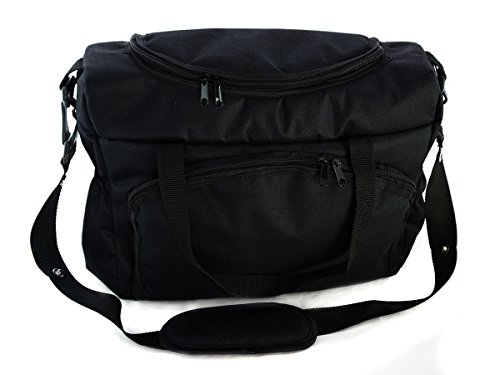 Sac-poussette sac à langer grande capacité pour la poussette un sac de voyage un sac pour les accessoires une mallette de transport noir Black[059]