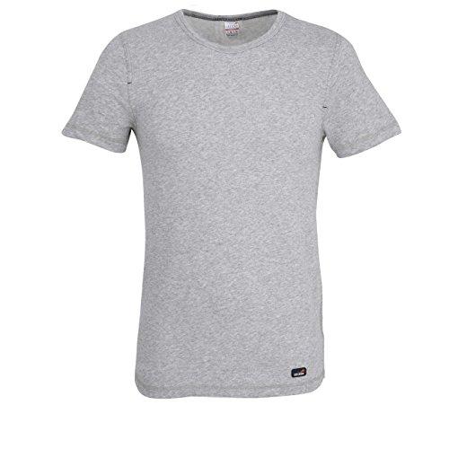 Ceceba Herren T-Shirt, Kurzarm, Polyamid, Baumwolle, Thermo Function, Grau, Melange XL (Ski-jacke Oberteile Männer)