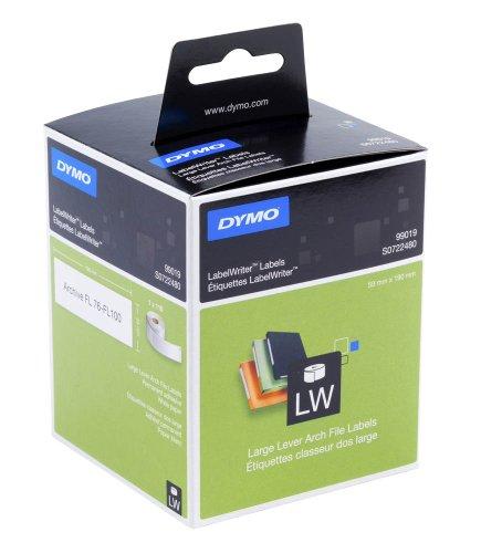 DYMO Ordner-Etiketten breit Typ 99019 / 59 x 190 mm (BxH) für DYMO LabelWriter 300- (außer 310), 400-, 450-Serie, 4XL