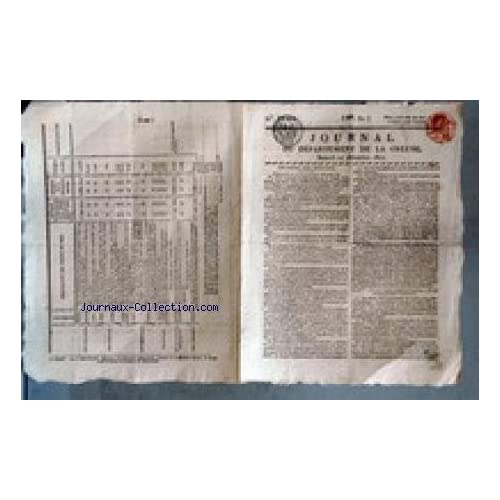 JOURNAL DU DEPARTEMENT DE LA CREUSE [No 52] du 27/12/1817 - CHAMBRE DES DEPUTES - LA LIBERTE DE LA PRESSE - INDUSTRIE NATIONALE - M. SIMEON - M. PERRIER - M. BIGNON - M. ROYER-COLARD.