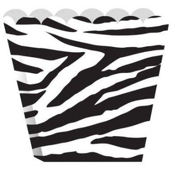 Zebra Druck Party Genuss Schachteln Popcorn Stil x 8
