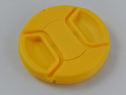 Protège-objectif jaune vhbw avec griffe sur le côté 72mm pour objectif d