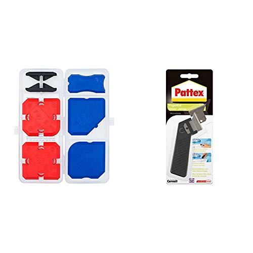 Fugenwerkzeug-Set FUGI Professional,  5-teilig, mit 16 Profilvarianten & Pattex Fugenhai mit Ersatzklinge / Praktischer und handlicher Silikon Fugenentferner / 1er Pack mit Ersatzklinge