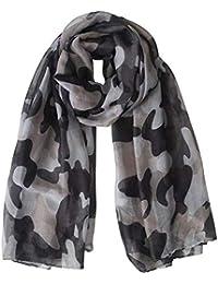 Femmes Foulard imprimé Camouflage Foulard Châle Wraps Long léger Doux Camo  Motif Echarpes Infinity pour Les 18cc518a99f