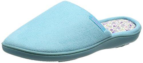 Isotoner - Isotoner Suedette Mule Slippers, Pantofole Donna Blue (Aqua)