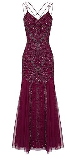 Perla Berry Maxi Embellished Dress