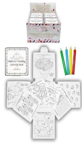 Preisvergleich Produktbild 6 Wedding Favour Activity Pack.Childrens,Kids,party bag filler,box,puzzles,games by Henbrandt