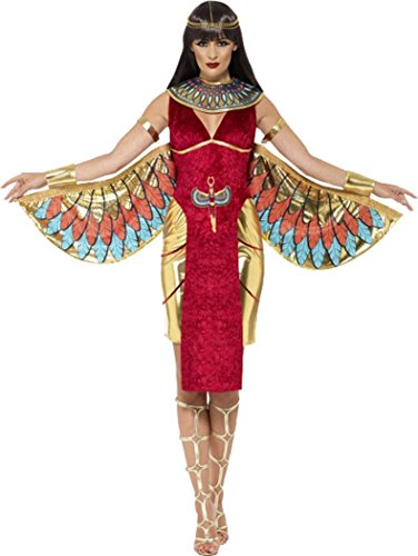 y Party Kleid ägyptische Königin Göttin Kostüm Outfit, Rot (Römische Göttin Halloween-outfit)
