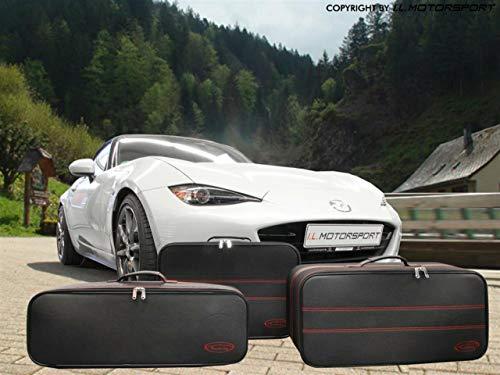 Preisvergleich Produktbild MX-5 Koffer Roadsterbag Reisekoffer 3 Stück MX5 ND - rote Naht
