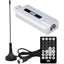 August DVB-T210 Sintonizador TDT HD (DVB-T2) – Sintonizador de Televisión Digital en Alta Definición para Ordenadores de Sobremesa y Portátiles - Grabador PVR – Compatible con Windows 10 / 8 / 7 / Vista y XP
