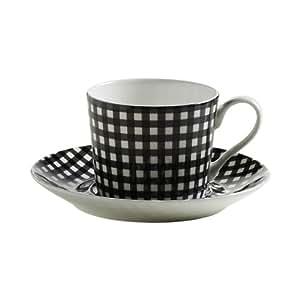 maxwell williams s84005 art deco tasse mit untertasse kaffeetasse glencheck in geschenkbox. Black Bedroom Furniture Sets. Home Design Ideas