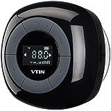 VTIN Relaxer Mini Enceinte Bluetooth 4.0 Haut-Parleur Etanche Puissant avec Tuner FM Radio Ecran LCD Digital Pour les Appels/Siri pour iPhone 7 7 plus, 6 6s, 5 5s, et Tous les Périphériques Bluetooth-Noir
