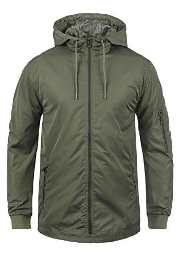 Blend Cray Herren Übergangsjacke Parka Lange Jacke Mit Kapuze, Größe:XL, Farbe:Dusty Olive Green (77203)