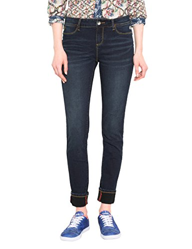 Desigual Damen Skinny Jeans DENIM_SECOND Skin, Blau (Denim Dark Blue 5008), Gr. W24