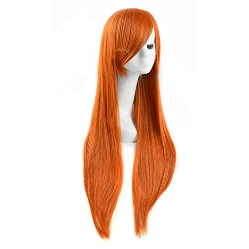 (Spicy Girl Kim Im möglichen Orange Orange lange glatte Haare Cosplay Perücke durch WIG MINE)
