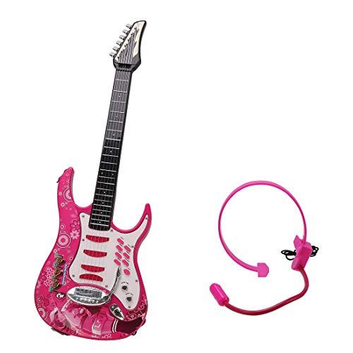 Koyae Guitarra para Niños, 6 Cuerdas Guitarra Electrica Niños con Micrófono, Rock Guitarra de Juguete, Niño/Niña de 3-7 años Regalo...