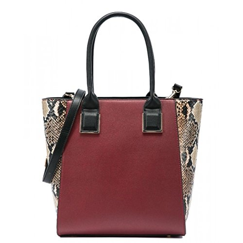 Craze London , Damen Tote-Tasche rot