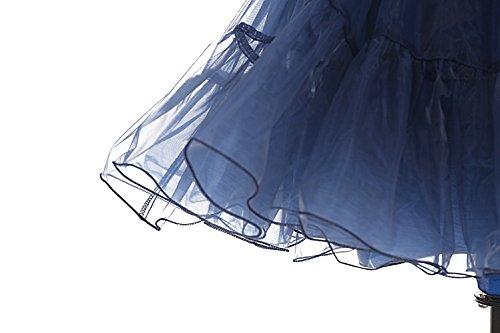 bbonlinedress Organza 50s Vintage Rockabilly Petticoat Underskirt Navy S - 5