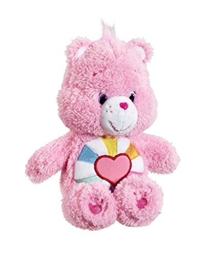 Image of Vivid Imaginations Care Fluffy Friends Hopeful Heart Bear Bean Bag Plush Toy (Multi-Colour)