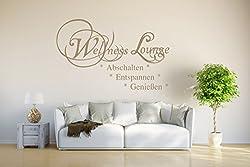 """INDIGOS UG - WANDTATTOO Wandsticker Wandaufkleber -""""Wellness Lounge"""" - braun - 120x80 cm"""