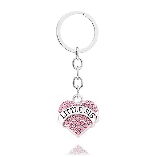 3pcs Pink Crystal Big Middle Little Sister Gift Family Friend Key Chain  Rings Set Women Girls Keychains – Discount Accessories