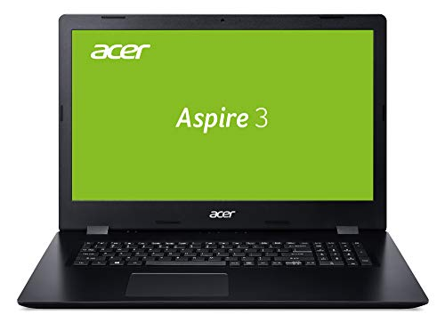 Acer Aspire 3 (A317-51G-53VZ) 43.9 cm (17,3 Zoll Full-HD IPS matt) Multimedia Notebook (Intel Core i5-8265U, 8 GB RAM, 256 GB PCIe SSD + 1.000 GB HDD, NVIDIA GeForce MX230, Win 10 Home) schwarz