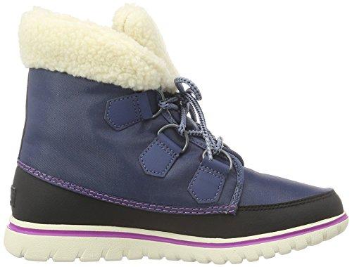 Sorel Cozy Carnival, Sneakers Hautes Femme Bleu (Dark Mountain/Black 478)