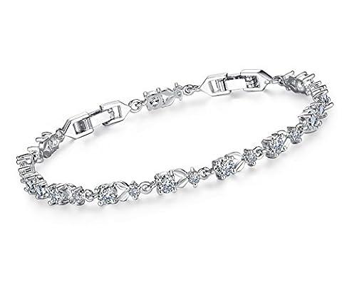 Bracelets de tennis élégants, Bracelet femme pour cadeaux avec plaqué or Borong