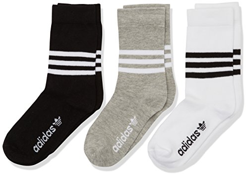 Adidas AZ0162, Calzini Uomo, Multicolore (White/Black/Medium Grey Heather), 43-46, (pacco da 3)