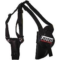 Fosco Industries, Fondina ascellare deluxe nera per pistola con porta caricatore (Nero) - Pistola Fondina