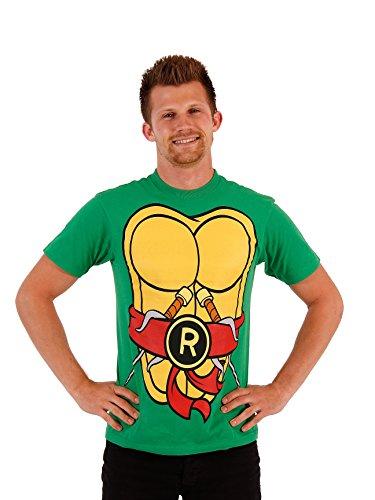 TV Store TMNT Teenage Mutant Ninja Turtles Raphael Kostüm Flip grün Erwachsene T-shirt, - Tmnt T Shirt Kostüm