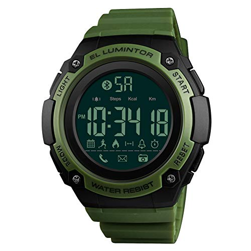 Smart Sports Electronic Watch Calorie Bluetooth Incoming Call Remote Control Camera Watch,Green