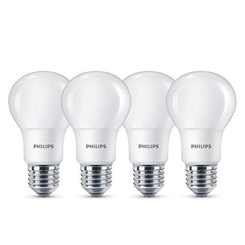 Philips LED ersetzt Lampe, 60W, E27, warmweiß (2700 Kelvin), 806 Lumen, matt, 4er Pack