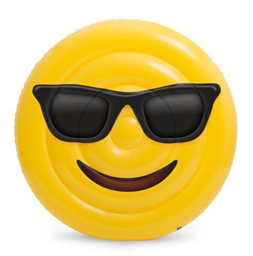 Emoji- Colchoneta Hinchable Cara Gafas (Saica 5887)