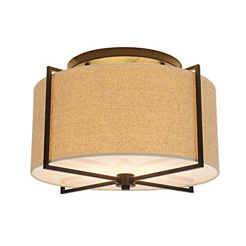 Hängeleuchte im amerikanischen Landschaft, Deckenlampe für den Flur des Schlafzimmers, Deckenlampe aus Stoff, D45 cm H32 cm E27 * 5 (außer Lichtquelle)
