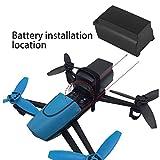 eegwbang 2500mAh 11.1V 10C Grande Batterie Lipo pour Parrot Bebop Drone 3.0 Noir