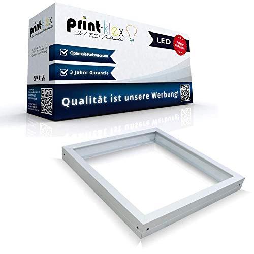 Lack-rahmen (LED Panel Rahmen 60x60cm Anbaurahmen Aufputzrahmen Wandrahmen Weißer Rahmen - Office Plus Serie)